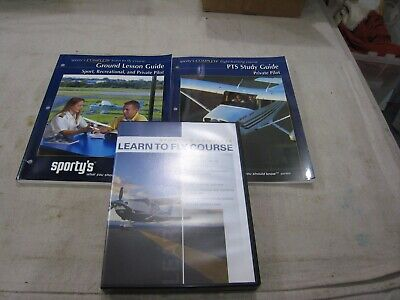 Sporty's Learn To Fly Course on DVDs Plus 2 Study Guides