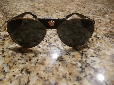 VERSACE Unisex Aviator Tortoise/Gold Sunglasses w/ Box MOD 2150-Q  62mm