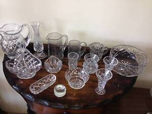 15 pieces of mixed Crystal items. $125 Bundall Gold Coast City Preview
