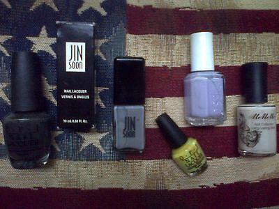 5pc nail polish set: Essie, OPI, MeMeMe, OPI Mini & JINsoon