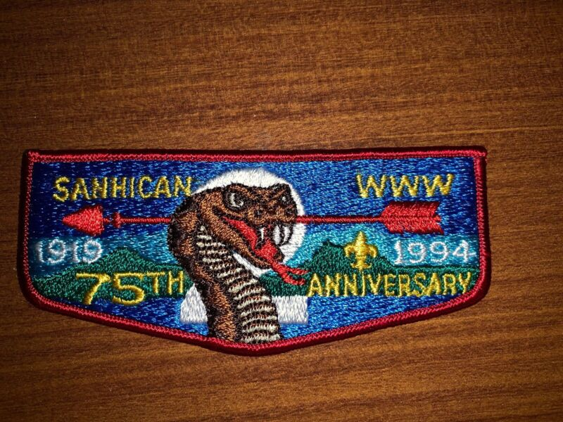 Mint OA Flap Lodge 2 Sanhican  Red Border 75th