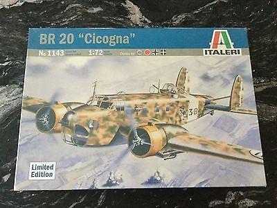 ITALERI 1/72 WW II ITALIAN BR 20 CICOGNA MEDIUM TWIN ENGINE BOMBER 1143 F/S