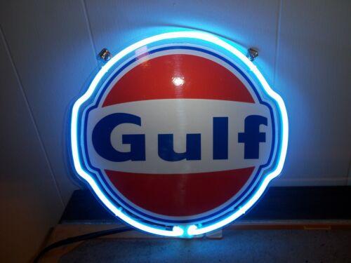 "Gulf Gas Oil 9""X 9""  Plastic Lit Sign"