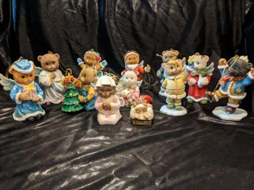 Set of 12 Angel Bear Ornaments Christmas Holiday Cute Tree Religious Winter Fun