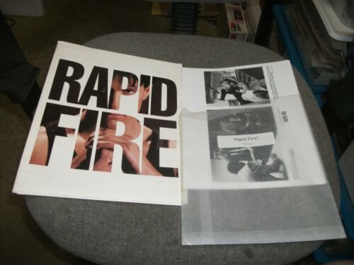 1992 RAPID FIRE Movie Press Kit-BRANDON LEE-Includes 7 Movie Stills,Details