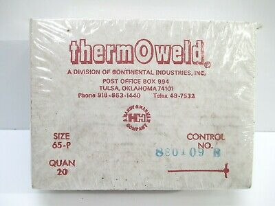 Thermoweld 65-p Shot Weld Material 1 Case 20 Cartridges Welding Construction