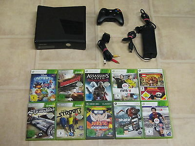 Xbox 360 Konsole Slim Schwarz Kinect Ready mit 3 Gratis Spiele + Controller online kaufen