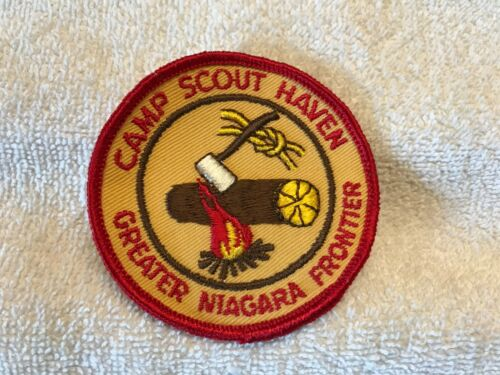 Boy Scouts Patch Camp Scout Haven Greater Niagara Frontier NEW late 60