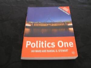 Politics One by Ian Ward and Randal G Stewart in As New Condition Jimboomba Logan Area Preview