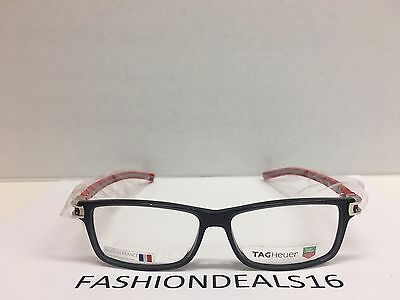 New Tag Heuer w/TAGS 7604 Track S Gray Red TH7604 004 56mm Optical Eyeglasses -