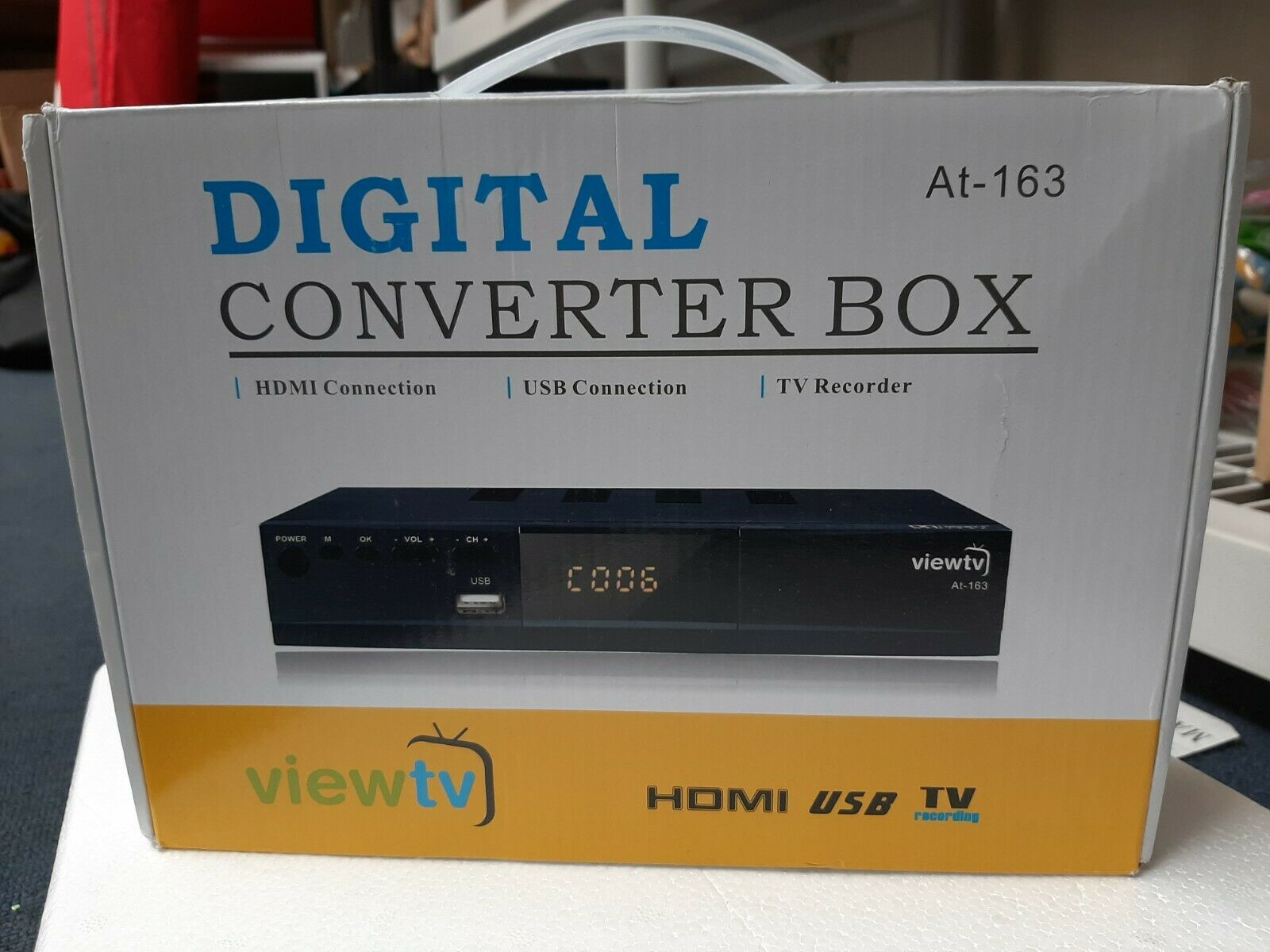 ViewTV AT-163 ATSC Digital TV Converter Box and Media Player