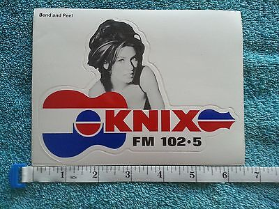 SHANIA TWAIN BUMPER STICKER DECAL KNIX PHOENIX 102.5 RADIO RARE NEW music