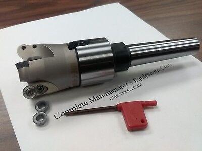 2 Face Mill R200 W. 4 Sandvik Rckt1204 Round Inserts Mt2 Arbor506-r200-2