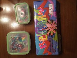Rainbow Loom full set and two containers or bands