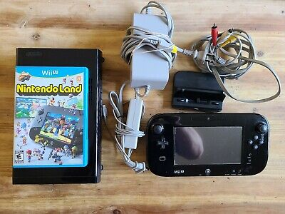 Nintendo Wii U Console 32GB Black Tested Working Virutal Console Games CLEAN