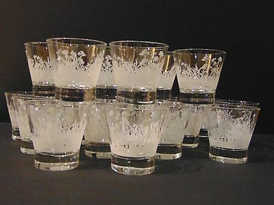 GLASSES by SONNEMA VODKA HERB GLASSES (21) - CLEAR WITH FROSTED FLORAL DESIGN