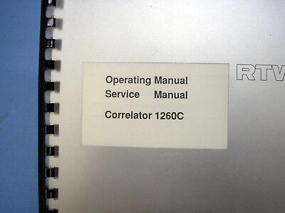 RTW Correlationsanzeige 1260C Service and Operating Manual