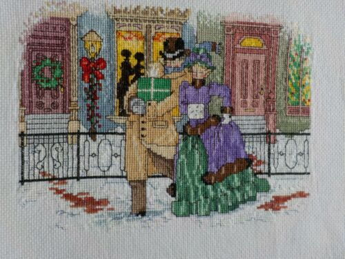 Cross Stitch - Completed - Finished -   Victorian City  -  Ready To Frame