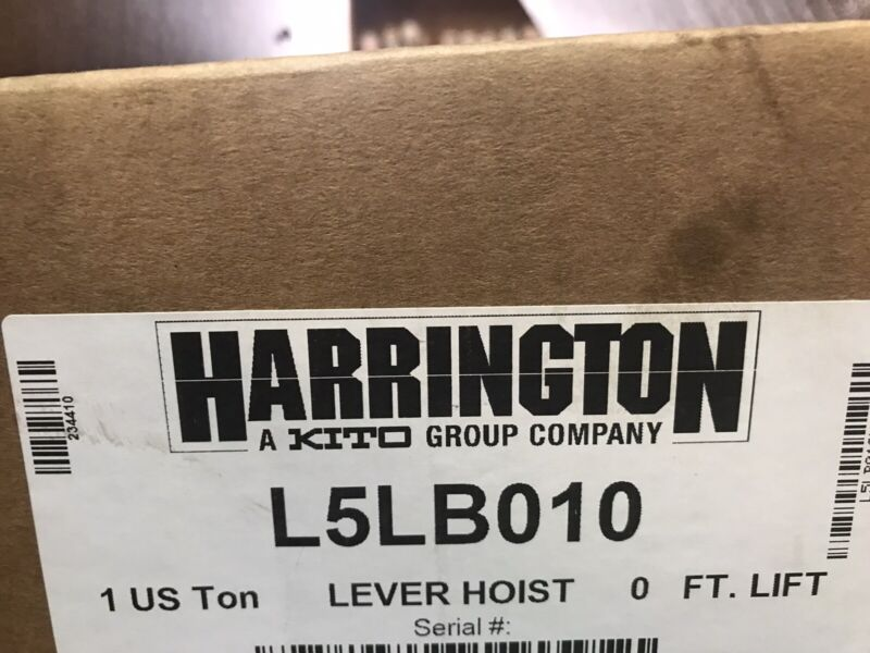Harrington L5LB010 Ten Foot 1 Ton Chain Hoist