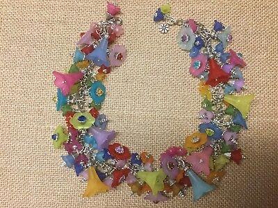 Multi Color Flower Fairy Halloween Costume Day Of The Dead Necklace Handmade - Dead Fairy Halloween Costume