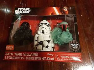 Star Wars Bath Time Villains set in box Denistone Ryde Area Preview
