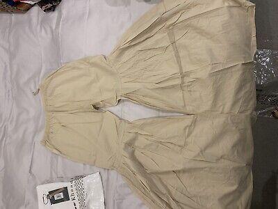 Khaadi Gharara Pants Beige Size 10 Brand New RRP £50
