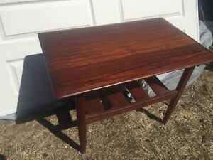 rare set of mid-century african teak tables