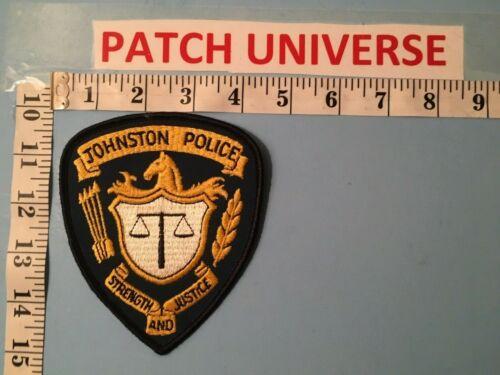 JOHNSTON IOWA POLICE   SHOULDER PATCH  D045