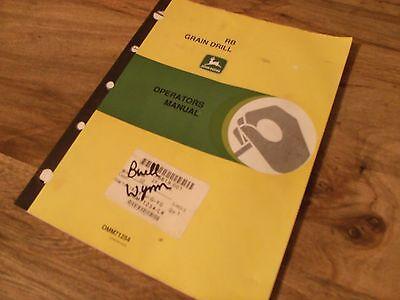 John Deere Rb Grain Drill Operators Manual Worldwide