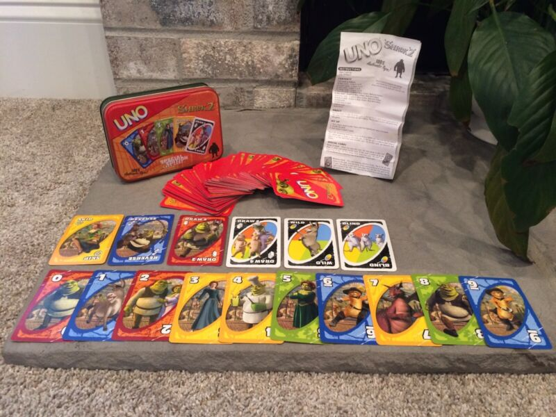 UNO SHREK 2 SPECIAL EDITION Card Game ii Deluxe Collector Tin COMPLETE