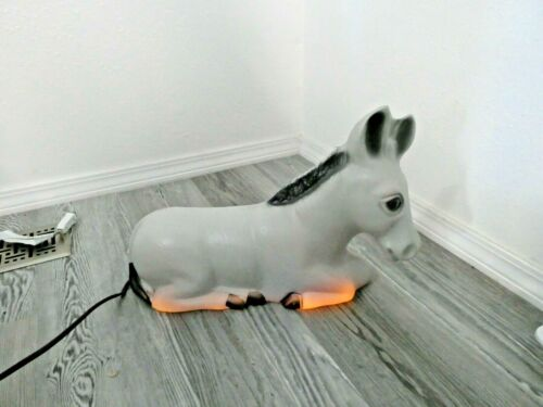 General Foam Plastics Donkey Blow Mold Decor Nativity Light Christmas