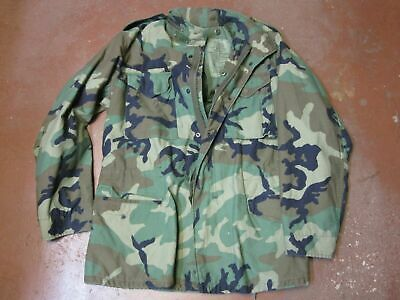 US MILITARY MEN'S WINTER CAMOUFLAGE WOODLAND FIELD JACKET M-65 COAT ARMY CAMO