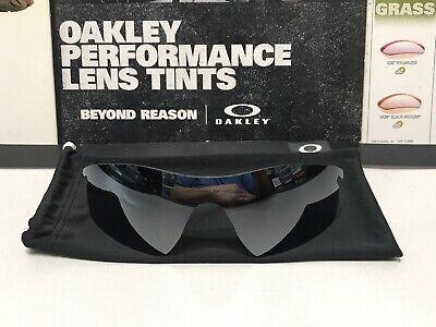 Oakley Radarlock Pitch Black Iridium Replacement lens - NR MINT - (Discount Mens Oakley Sunglasses)