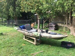 Old Town Predator MX Fishing Kayak fully outfitted