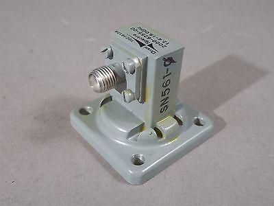 Waveguide To Coax 2000-6255-00 Adapter 12.4-18 Ghz Sma 454-000-001