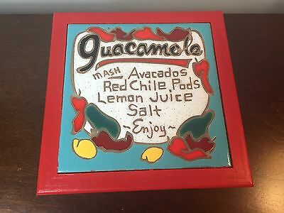 Guacamole Recipe Tile Kitchen Trivet Made In Santa Fe New Mexico