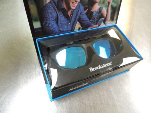 Brookstone Audioshades Sunglasses w/ Built-In Bluetooth Speakers - Black - NIB!