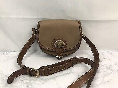 Vtg Victor Hugo Italian Leather Goods Crossbody Bag Brown Western Handbag P1