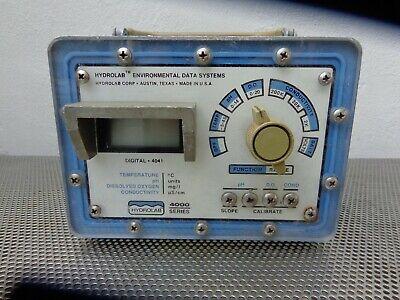 Hydrolab 4000 Series Enviromental Data Analyzer 4041 Need Ac Adapter