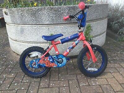 """Spiderman bike 14""""for 3/4 year old children"""