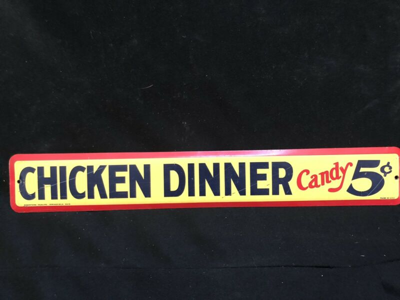 Vintage Antique General Store Candy Bar Advertising Sign