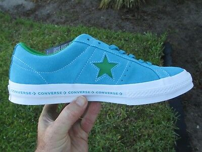 Converse ONE STAR OX  SUEDE HAWAIIAN OCEAN BLUE / GREEN 159813C  SIZE 10.5 MEN'S