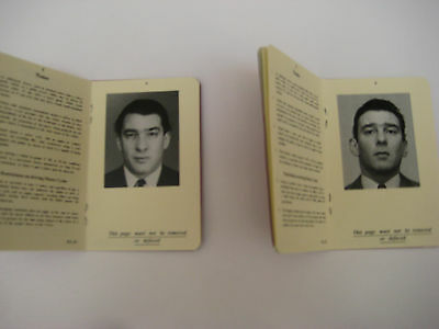 Ronnie & Reggie Kray Custom Made 1960's Style Drivers Licenses - The Kray Twins