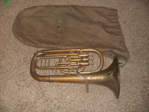 RARE Vintage Brass Baritone Couesnon & CIE Paris American Perfection Exposition