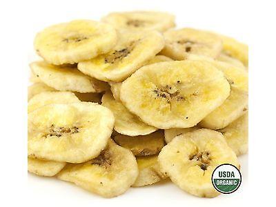 (SweetGourmet ORGANIC Dried Banana Chips Sweetened Bulk-6LB (2X3lb) FREE SHIPPING)