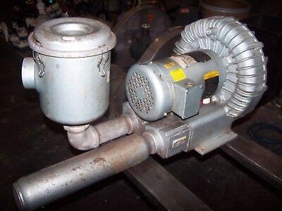Gast 1-12 Port Regenerative Blower 3.5 Hp 3450 Rpm 208-230460 Vac R6335a-2