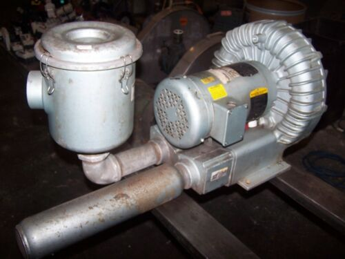 "GAST 1-1/2"" PORT REGENERATIVE BLOWER 3.5 HP 3450 RPM 208-230/460 VAC  R6335A-2"