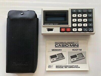 CASIO MINI MEMORY ELEKTRONISCHER TASCHENRECHNER VINTAGE 1975 Made In Japan (Mini-taschenrechner Casio)