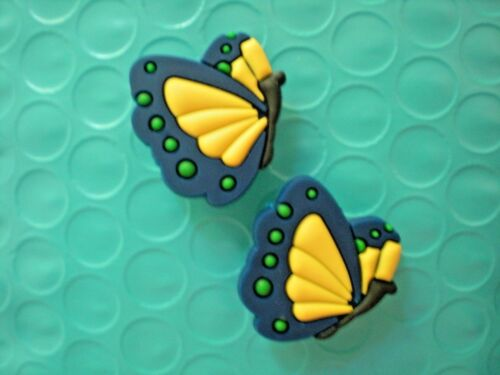 Clog Shoe Charms Plug Wristband Bracelet Accessories Blue Butterfly