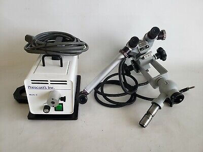 Carl Zeiss F-160 Microscope Head Precotts Inc Mark Ii Light Source